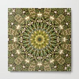 Geometric Forest Mandala Metal Print