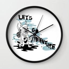 Lets Go Adventure Wall Clock