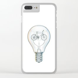 Light Bicycle Bulb Clear iPhone Case