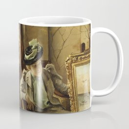 Alfred Stevens - Visit to the Studio Coffee Mug