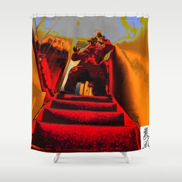 Attic Studio; Fire Escapade Shower Curtain