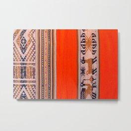 Peruvian texture Metal Print