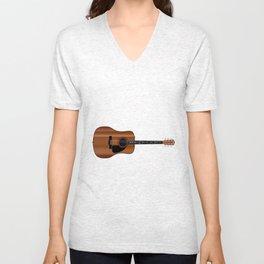 Acoustic Guitar Unisex V-Neck