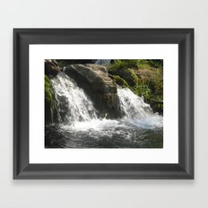 Double Fall Framed Art Print
