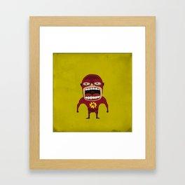 Screaming Crimson Bolt Framed Art Print