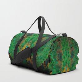 """Emerald and black peacock"" Duffle Bag"