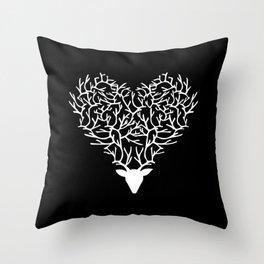 Deerest Heart Throw Pillow