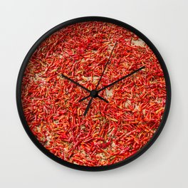Chillies and Peppers Wall Clock