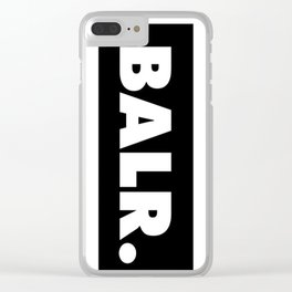 balr. balr ballr blr new fashion art style trend popular hot 2018 2019 cute swag love Clear iPhone Case