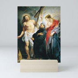 Saint Augustine between Christ and the Virgin by Peter Paul Rubens Mini Art Print