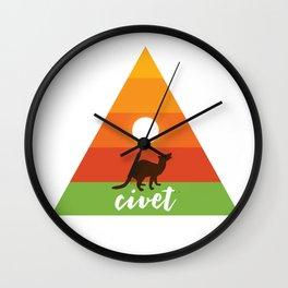 civet Triangle Animal Wall Clock