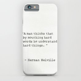 Herman Melville quote 9 iPhone Case