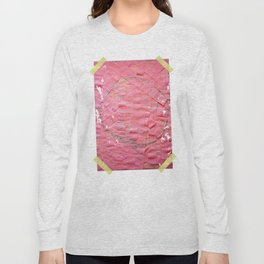 Smile on a pink toilet paper Long Sleeve T-shirt