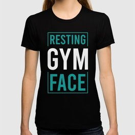 "Nice Leg Day Shirt ""Resting Gym Face"" T-shirt Design Dumbbell Injury Injured Crutches Funny Fitness T-shirt"