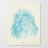 courage Canvas Prints featuring Courage by ChrisRIllustrations