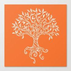 Tree of Life Orange Canvas Print