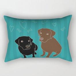 Retriever ChocoBlack Rectangular Pillow