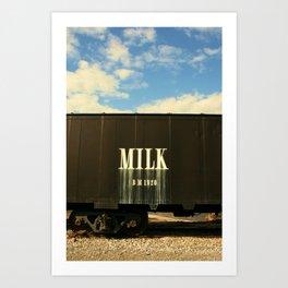 Milk Train Art Print