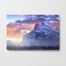 Mount Rundle Metal Print