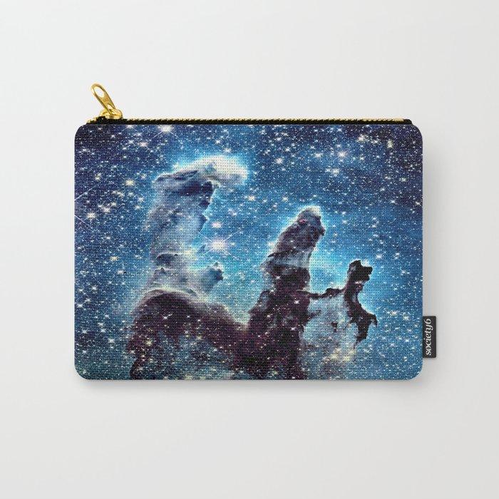 Pillars of Creation Nebula: Ocean Blue Galaxy Carry-All Pouch