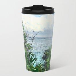 Lush Oceanside of Tulum Travel Mug