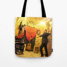flamenco dancing Tote Bag