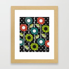 Night bloomers Framed Art Print