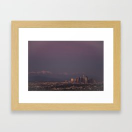 Dusk of LA Framed Art Print