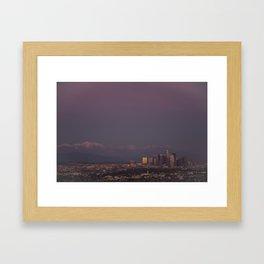 Dusk of LA Framed Art Print