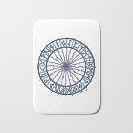 Elder Futhark Rune Wheel Bath Mat