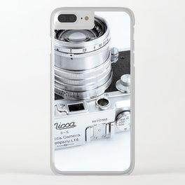 1950s Nicca 3-S 35mm Film Camera in Black & White Clear iPhone Case