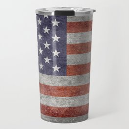 Flag of the United States of America - Vintage Retro Distressed Textured version Travel Mug