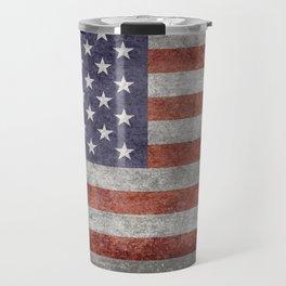Flag of the United States of America - Vintage Retro Distressed Textured version Travel Mug
