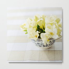 Spring in a cup Metal Print