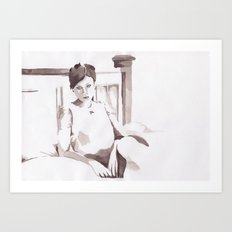 Figure and Bed Art Print