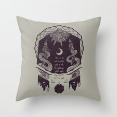 The Lightning-Filled Night Throw Pillow