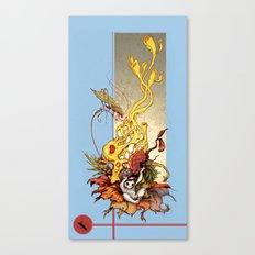 Katydid Driddle Canvas Print