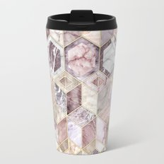 Blush Quartz Honeycomb Travel Mug