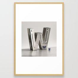 Wanna Be Bold Letter W Framed Art Print