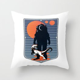 The Astronaut's Pet Throw Pillow
