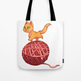 Kitten On Yan Tote Bag