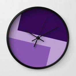 Two ways (Purple series) Wall Clock