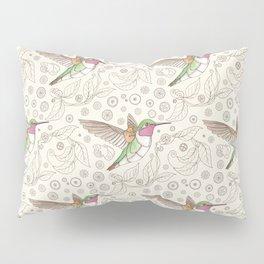 Clockwork Hummingbird Pillow Sham