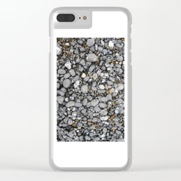 pebbles on the beach Clear iPhone Case