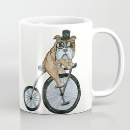 English Bulldog Riding a Penny-farthing Coffee Mug