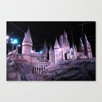 hogwarts Canvas Prints featuring Hogwarts by Anabella Nolasco