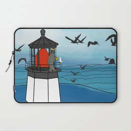 Tuskadero Slim at his home in the Cape Meares Lighthouse from Flock of Gerrys Gerry Loves Tacos Laptop Sleeve