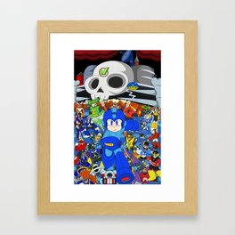 Fight Mega Man, For Everlasting Peace! Framed Art Print