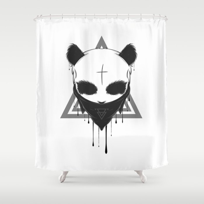 Gangster Panda Shower Curtain