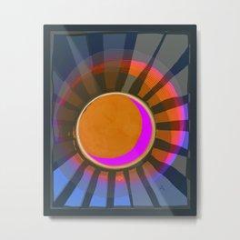 Full Moon Rays Metal Print